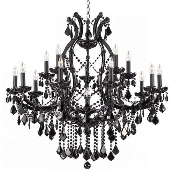 Sy Cdl2318 Black Chandelier Baroque Crystal Traditional 16lights